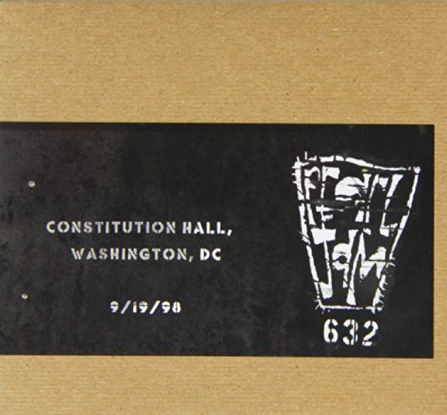 Pearl Jam Official Bootleg Constitution Hall Dc 9 19 98