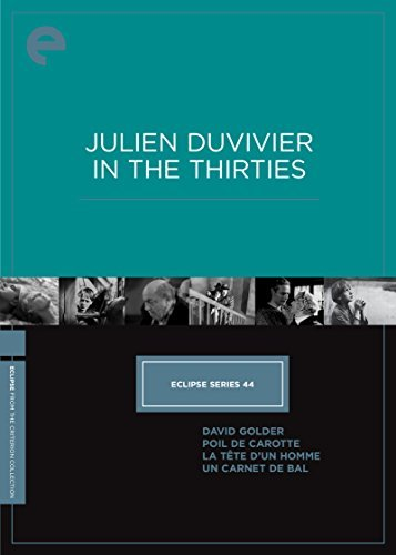 Eclipse Series 44 Julien Duvivier In The Thirties Eclipse Series 44 Julien Duvivier In The Thirties DVD Nr Criterion