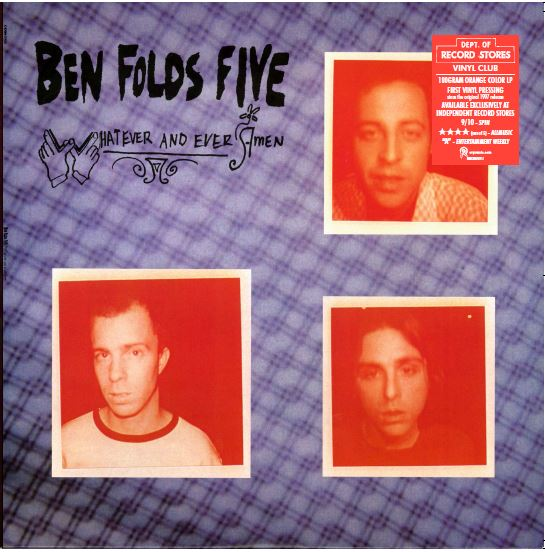 Ben Folds Five Whatever & Ever Amen (orange) Limited Orange Vinyl