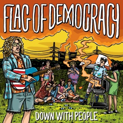 Flag Of Democracy Down With People