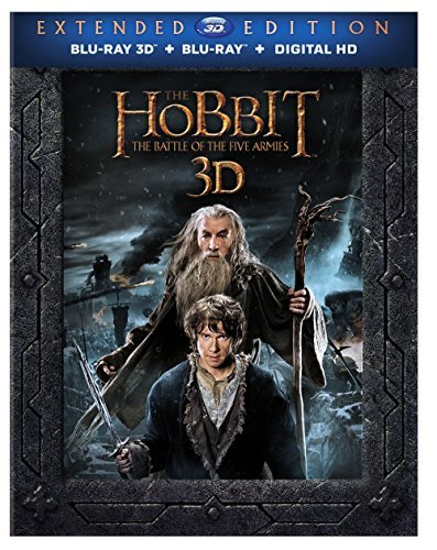 Hobbit The Battle Of The Five Armies Mckellen Freeman Armitage Extended Cut 3d Blu Ray Dc R