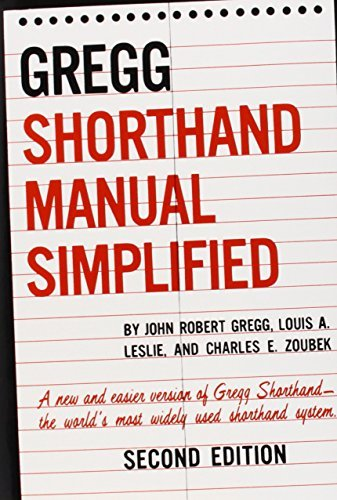 John Gregg The Gregg Shorthand Manual Simplified 0002 Edition;revised