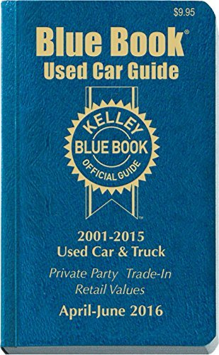 Kelley Blue Book Kelley Blue Book Consumer Guide Used Car Edition Consumer Edition April June 2016
