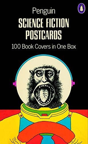 Various Penguin Science Fiction Postcards 100 Book Covers In One Box