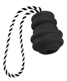 Gorrrilla Rubber Dog Toy With Tug Large Black