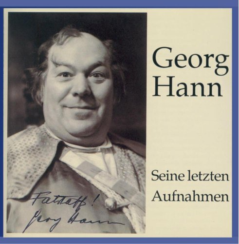 Georg Hann Legendary Voices Hann (bass)