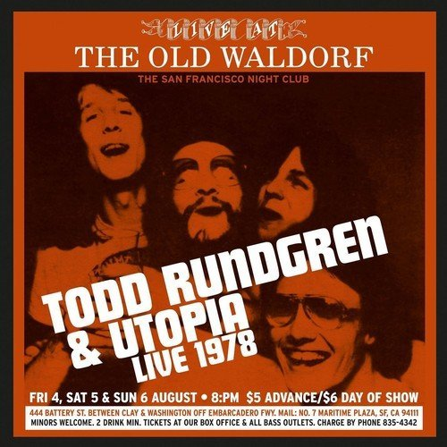 Todd & Utopia Rundgren Live At The Old Waldorf San 2cd