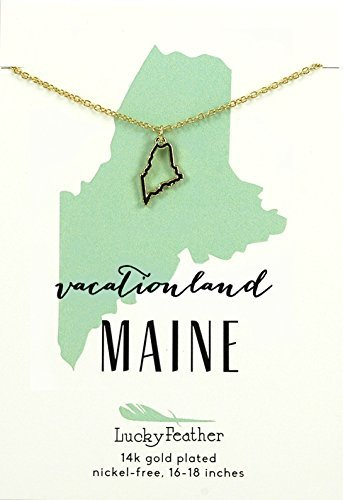 Necklace Maine Outline