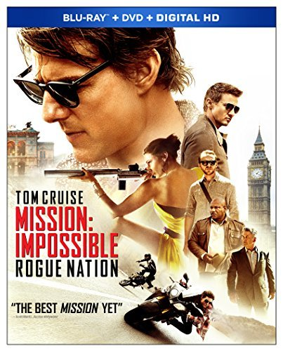 Mission Impossible Rogue Nation Cruise Ferguson Renner Blu Ray DVD Dc Pg13