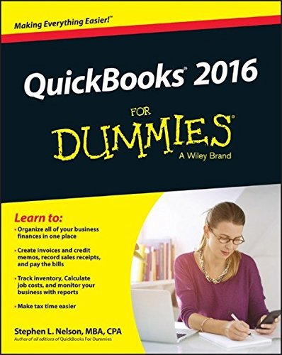 Stephen L. Nelson Quickbooks 2016 For Dummies