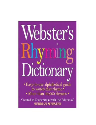 Merriam Webster Webster's Rhyming Dictionary