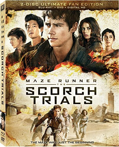 Maze Runner The Scorch Trials O'brien Scodelario Sangster Blu Ray DVD Dc Pg13