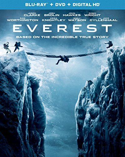Everest Clarke Brolin Hawkes Wright Worthington Knightley Watson Gyllenhaal Blu Ray DVD Dc Pg13