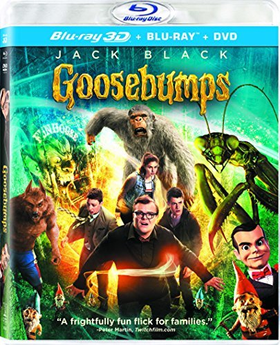 Goosebumps Black Minnette Rush 3d Blu Ray DVD Dc Pg