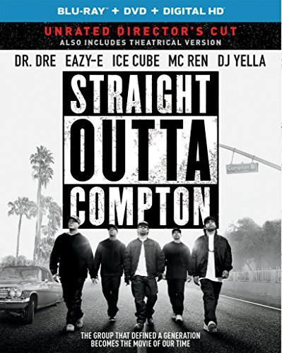 Straight Outta Compton Jackson Hawkins Mitchell Brown Hodge Blu Ray DVD Dc R