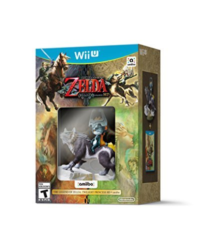 Wii U Legend Of Zelda Twilight Princess Hd With Wolf Link Amiibo