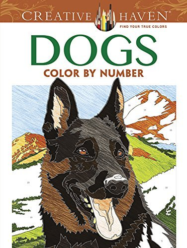 Diego Jourdan Pereira Creative Haven Dogs Color By Number Coloring Book First Edition