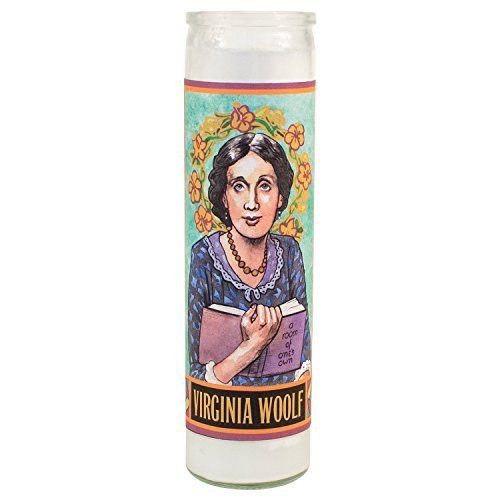 Candle Virginia Woolf Secular Saint Candle