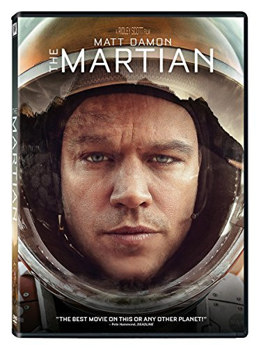 The Martian Damon Chastain Mara Wiig Daniels Ejiofor DVD Pg13