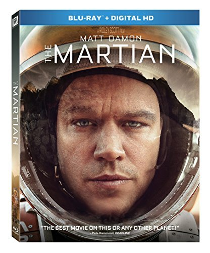 The Martian Damon Chastain Mara Wiig Daniels Ejiofor Blu Ray Dc Pg13