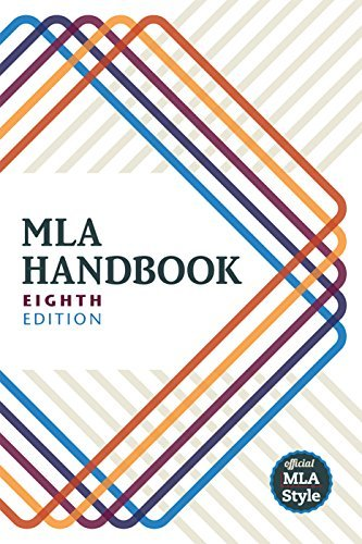 Modern Language Association Of America Mla Handbook 0008 Edition;