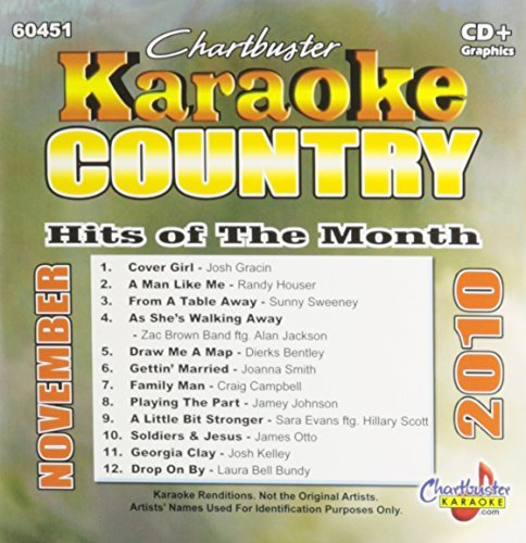 Chartbuster Karaoke Country Hits Of Month November 2010
