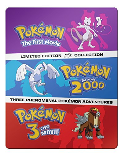 Pokemon Movies 1 3 Collection Blu Ray