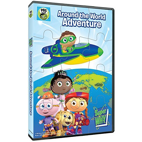 Super Why Around The World Adventure & Puzzle Pbs DVD Nr