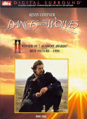 Dances With Wolves Costner Mcdonnell Greene Grant Clr Cc 5.1 Dts Ws Snap Pg13 2 DVD