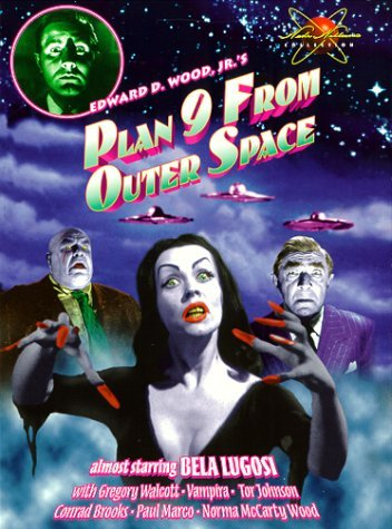 Plan 9 From Outer Space Flying Wolcott Lugosi Bw Nr Spec. Ed.