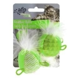 Afp Modern Cat Feather Balls 2pk Afp Modern Cat Feather Balls 2pk