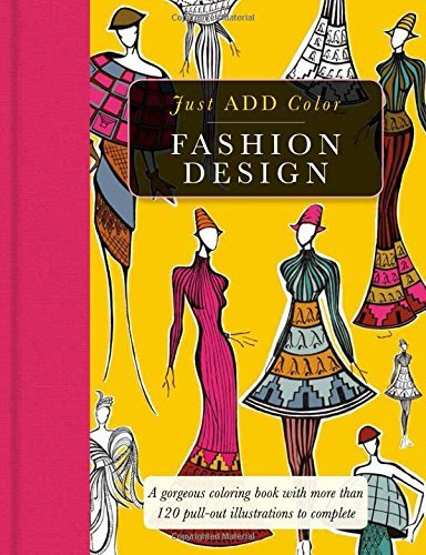 Carlton Publishing Group Fashion Design Gorgeous Coloring Books With More Than 120 Pull O