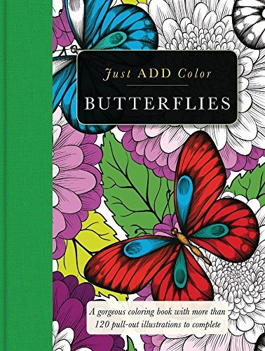 Carlton Publishing Group Butterflies Gorgeous Coloring Books With More Than 120 Pull O