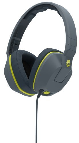 Headphones Crusher Gray Hot Lime