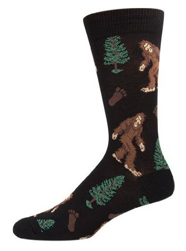 Socks Mens Crew Bigfoot Black