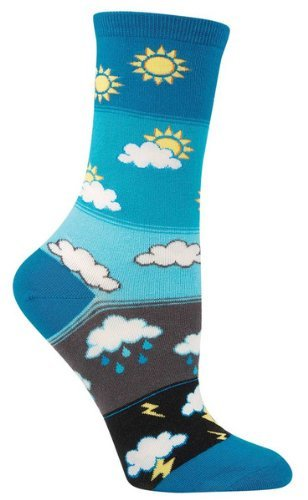 Socks Womens Crew Hows The Weather?