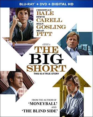 Big Short Bale Carell Gosling Pitt Blu Ray DVD Dc R
