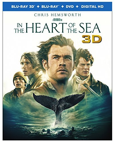 In The Heart Of The Sea Hemsworth Walker Murphy Gleeson Whishaw 3d Blu Ray DVD Dc Pg13