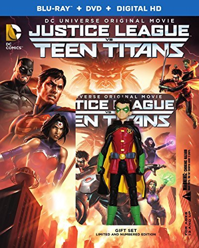 Justice League Vs. Teen Titans Justice League Vs. Teen Titans Blu Ray DVD Dc Toy Pg13