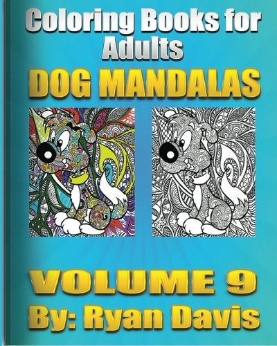 Ryan Davis Adult Coloring Book Dog Mandalas