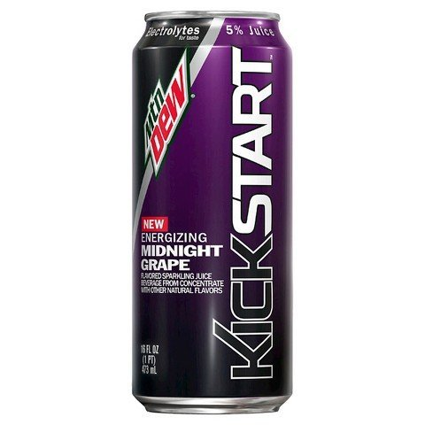 Beverage Mountain Dew Kickstart Midnight Grape
