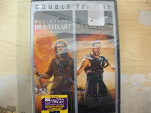 Braveheart Gladiator Double Feature 2 DVD