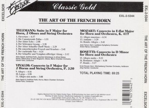 Telemann Vivaldi Mozart Rosetti The Art Of The French Horn