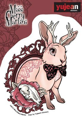 Sticker Miss Cherry Martini Bunny Tattoo