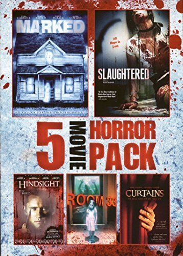 5 Movie Horror Pack Marked Slaughtered Hindsight Room 33 Curtains