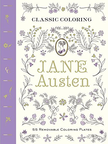 Abrams Noterie Classic Coloring Jane Austen 55 Removable Coloring Plates