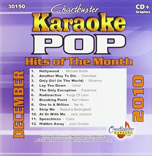 Chartbuster Karaoke Pop Hits Of Month December 2010