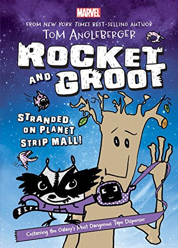 Tom Angleberger Rocket And Groot Stranded On Planet Strip Mall!