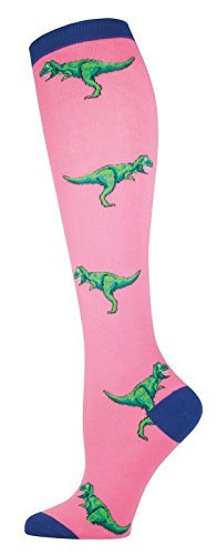 Socks Kneehigh T Rex Pink