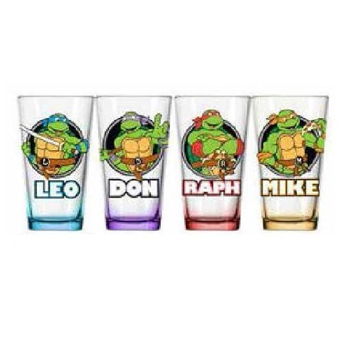 Pint Glass Tmnt 4 Pint Glass Faces